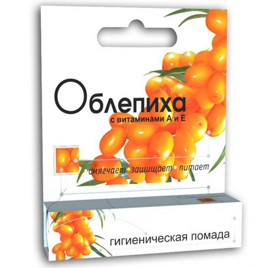 Помада гигиеническая Облепиха с витаминами А и Е 2,8г